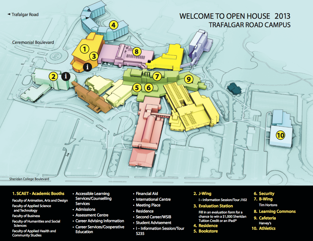 Sheridan Trafalgar Map Sheridan College Open House This Saturday, Nov. 16 | Sheridan Arts