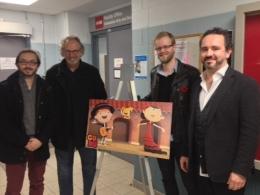 Guru president and creative director Frank Falcone visitsSheridan